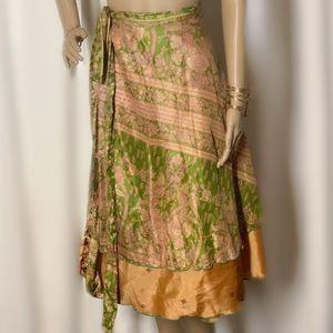 Dresses & Skirts - Reversible silk magic skirt